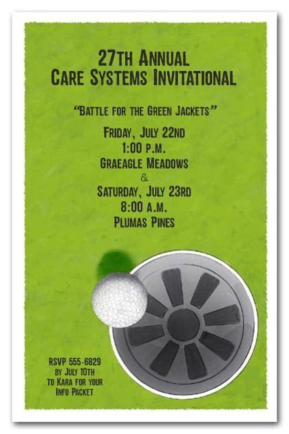 Sink It Golf Invitations, Golf Outing Invitations, Golf
