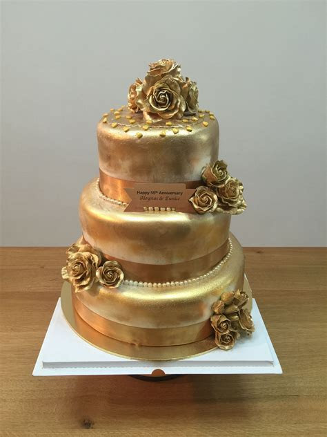 50th wedding anniversary Golden Cake   Bakerina   Hazel's