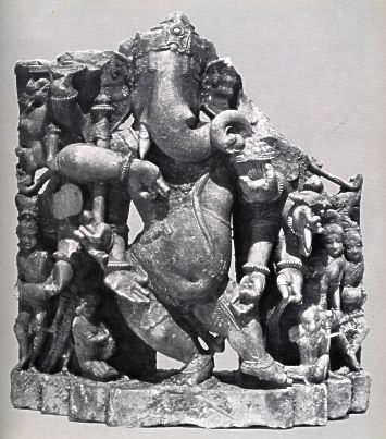 multiarmed Dancing Ganesh (c.10-11th century)