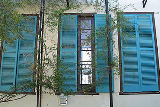 A Taste Of The Mediterranean With Window Shutters - the Daily Grind