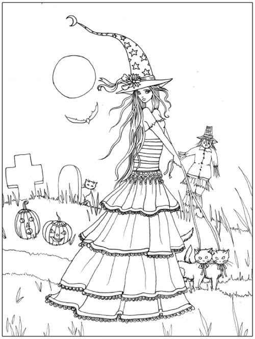 Witch Coloring Pages For Adults at GetColorings.com | Free ...