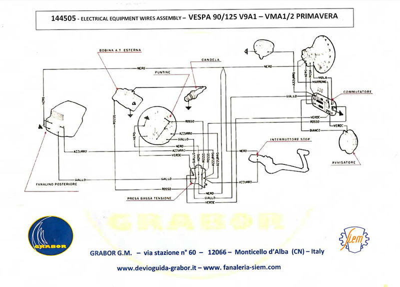 Vespa Bravo Moped Wiring Diagram