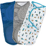 SwaddleMe Original Swaddle 3-6M - 3pk Superstar L, Infant Unisex, Size: Large, Gray Multicolored Blue