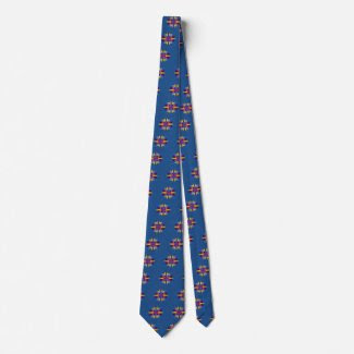Men's Necktie with Art Deco Star