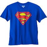 DC Comics petiteBoys' Superman Logo Graphic Short Sleeve T- Shirt - Royal Blue