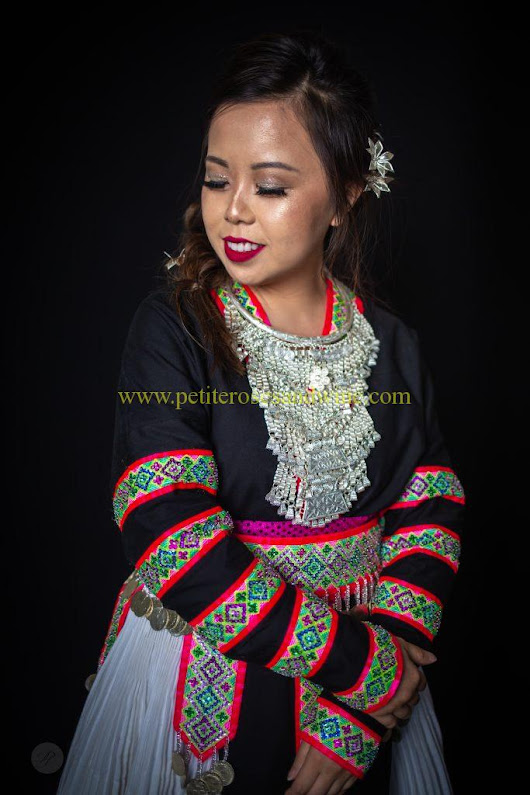 Hmong Outfit Series :: Sequin & Stripes | ROSES AND WINE