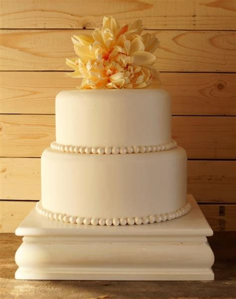 16 Inch White Cake Stand White Square Cake Stand White