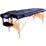 2 Sections Folding Portable SPA Bodybuilding Massage Table Chair Set