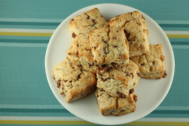 Cream Scones with Milk Chocolate Toffee Bits