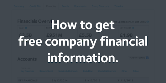 How to get free company financial information -