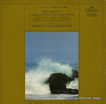 FRANCOIS, SAMSON beethoven 3 gret sonatas for piano