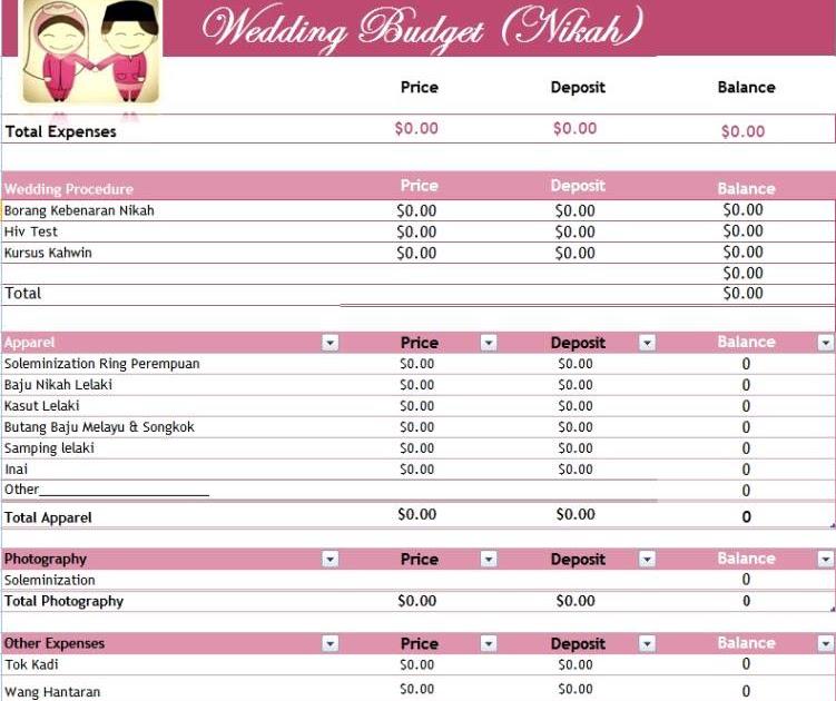 wedding planner: Wedding Checklist Malaysia