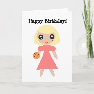 Happy Birthday Cookie Card