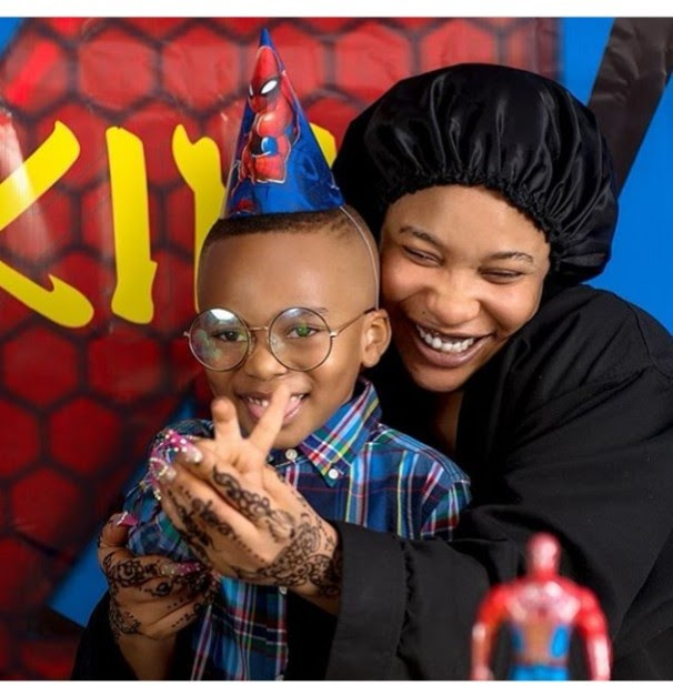 """Blood ain't family"" Tonto Dikeh says as she thanks her ""big baby"" for being there on her son's birthday"