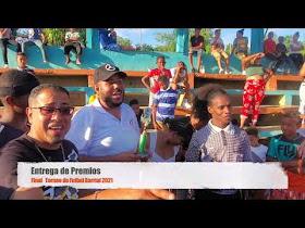 Entrega de Premios Torneo Futbol Barrial 2021