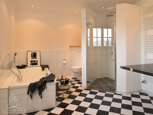 11 black and white bathrooms to bowl you over
