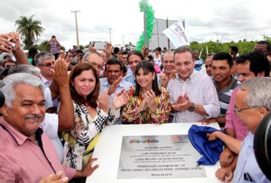 Entrega da MA-127, entre os municípios de Caxias e São João do Sóter