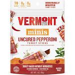 Vermont Smoke & Cure Uncured Pepperoni Turkey Sticks Multipack 6ct / 3oz