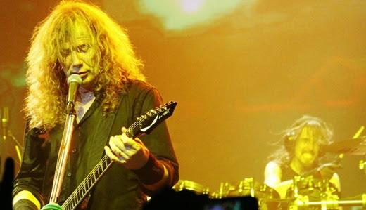 O líder do Megadeth, Dave Mustaine, 56, totalmente renovado com a entrada dos novos integrantes