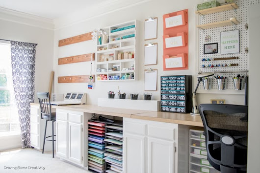 Organized Craft Rooms, 7 Small Craft Rooms on a Budget