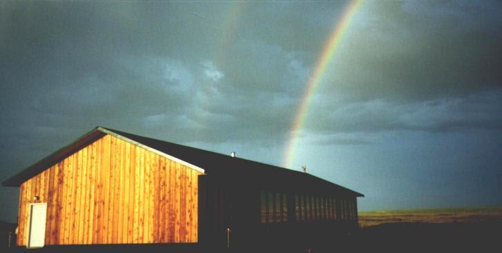Owlcroft House under a rainbow