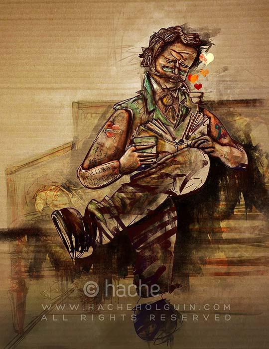 Ilustración Book Potion por Hache Holguín