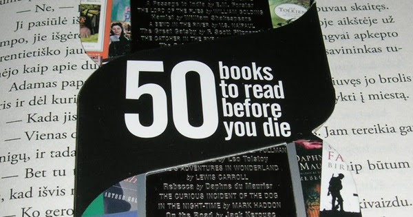 Resultado de imagen para 50 books to read before you die challenge