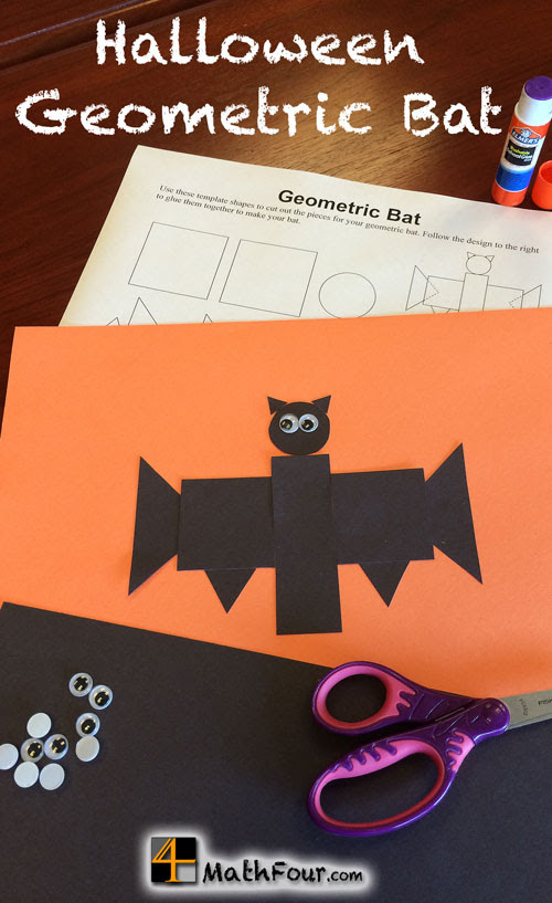 Try this fun Geometric Bat Halloween Craft activity with your students. It's a great way to talk shapes with every age!