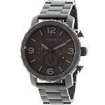 Fossil Men's Nate JR1401 Black Stainless-Steel Japanese Quartz Fashion Watch