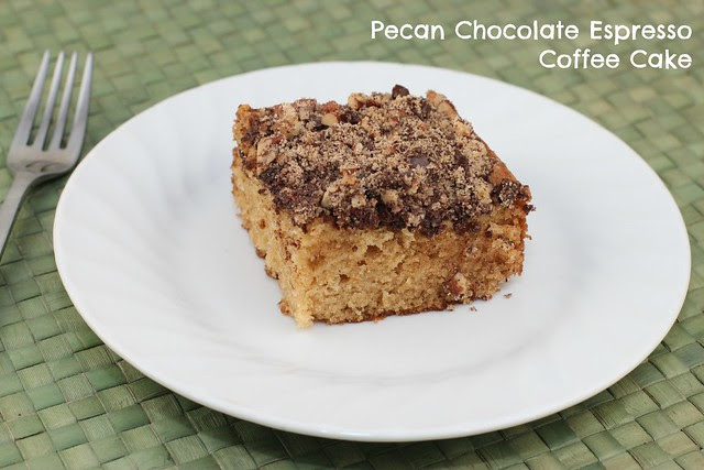 Pecan Chocolate Espresso Coffee Cake