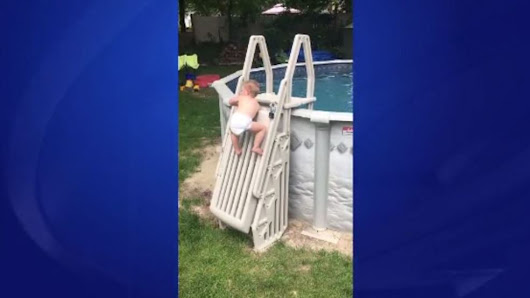 Massachusetts child scales 'un-climbable' pool ladder in viral video - Lewiston Sun Journal