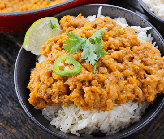 Saucy Coconut Lentils...A One Pot Meal - Girl and the Kitchen