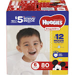 Huggies Snug & Dry Diapers, Size 6 - 80 count