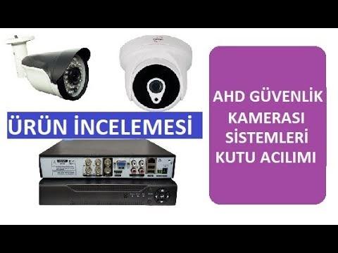 AHD Güvenlik Kamerası Sistemi Kutu Acılımı  (CCTV Set Unboxing), AHD Güvenlik Sitemi Tanıtımı