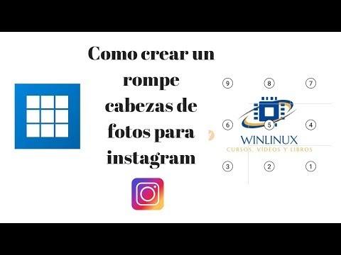 Crear un rompecabeza, mosaicos para instagram