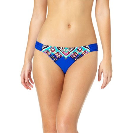 Tahiti Women's Engineered Side Tab Scoop Bikini Swimsuit Bottom