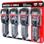 """Porter Cable 1.5""""X 16' Rachet Tie Down Set (4 Pc.)"""