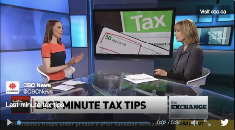 CBC The Exchange: Last minute tax breaks for late filers! | Squawkfox