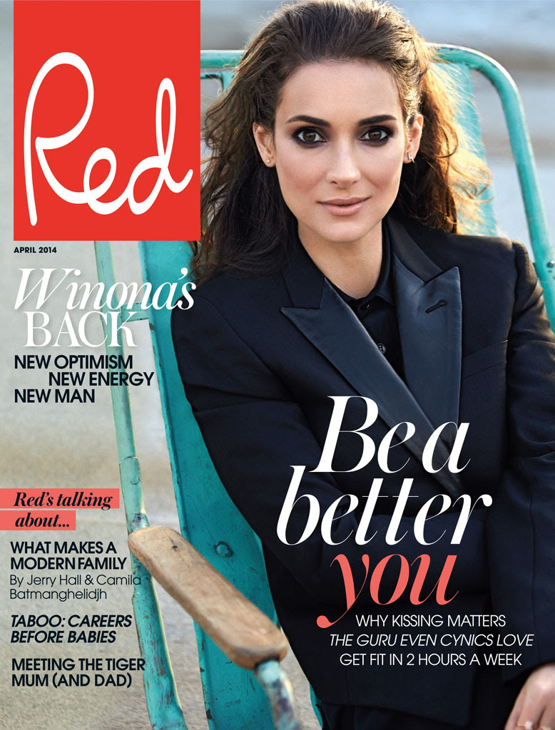 winona ryder red shoot6 Winona Ryder Charms for Red Magazine Feature by Max Abadian