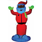 Costumes for all Occasions SS87563G Airblown Neon Animated Santa D