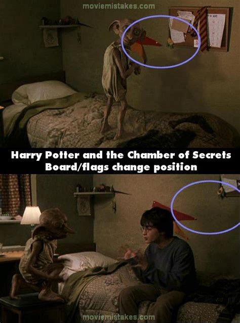 Harry Potter and the Chamber of Secrets movie mistake