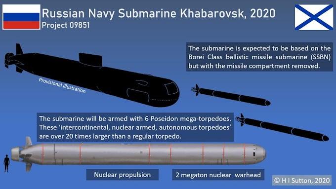 Khabarovsk, o mais novo submarino da Rússia que poderá redefinir a guerra submarina