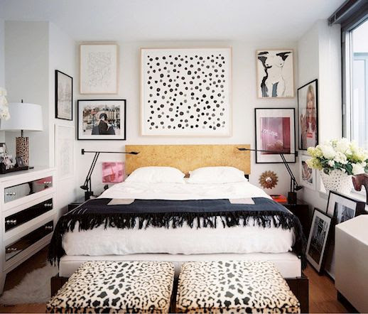 LE FASHION BLOG CHIC NEW YORK CITY BEDROOM LONNY MAGAZINE MICHELLE ADAMS FRAMED ART WALL PAINT DOT ART PRINT BLACK MINIMAL SWING ARM LAMPS LEOPARD PRINT STOOL OTTOMAN KATE MOSS SUPREME POSTER NEON SIGN PHOTO WHITE SHEETS FRINGE HEM THROW BLANKET NUDE ILLUSTRATION SHAGGY RUG GOLD WOOD HEADBOARD MIRRORED WHITE DRAWERS FURNITURE LEOPARD PRINT LAMP HOLLYWOOD GLAMOUR CHIC MINIMAL INTERIOR DESIGN DECOR 1 4 photo LEFASHIONBLOGCHICNEWYORKCITYBEDROOMLONNYMAGAZINEMICHELLEADAMS4.jpg