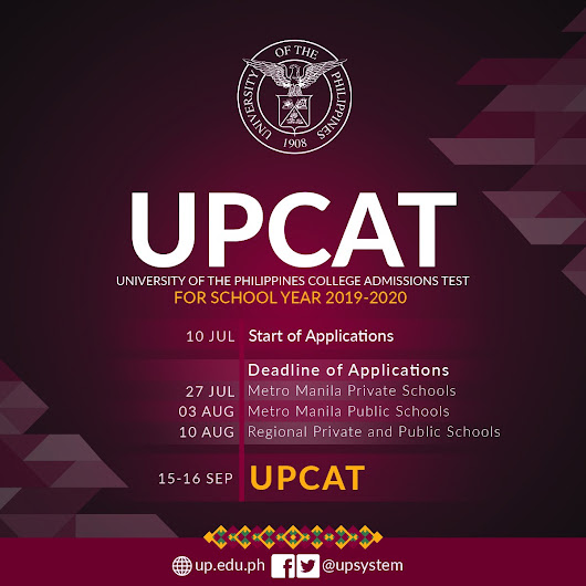 The UPCAT Online Application for Eligible Applicants University of the Philippines for SY 2019-2020