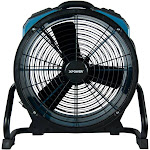 XPOWER X-47ATR Professional 1/3 HP 3600 CFM 360 Degree Rotation Axial Fan, Blue by VM Express