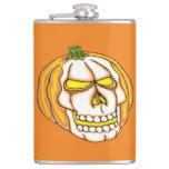 Pumpkin Skull Flasks