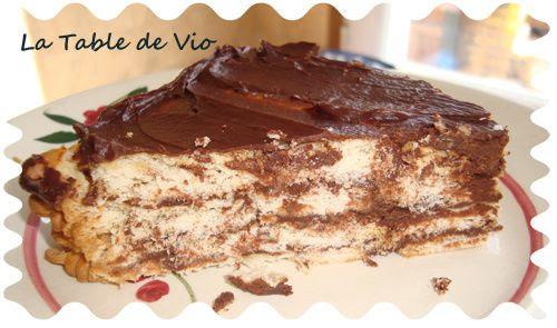 Recette pavé au chocolat avec petit beurre - Ma maison ...