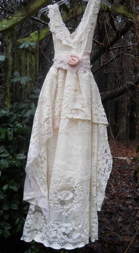 Cream lace dress vintage rose baby doll wedding bridesmaid