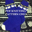 Knitting Pattern: Doctor Who Tardis Socks, NOT ACTUAL SOCKS, pdf file only
