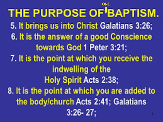 Galatians, Gospel of the One Baptism.